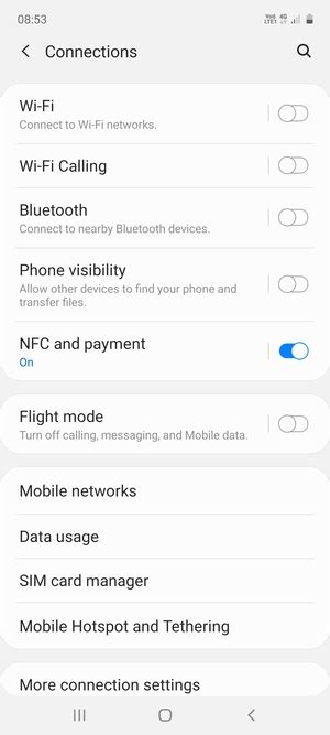 Switch between 3G/4G - Samsung Galaxy A51 - Android 10