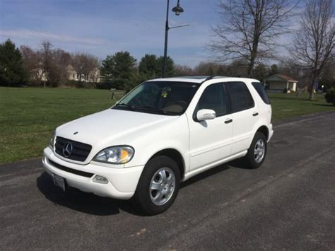 2002 Mercedes Benz Ml 320 All Wheel Drive White W/ Tan