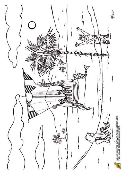 coloriage bateau viking sur hugolescargotcom