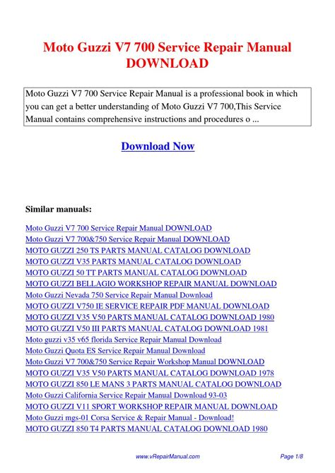 moto guzzi v7 700 service repair manual pdf by david zhang issuu