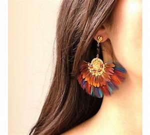 gas bijoux boucles d39oreilles plumes gaia boucles d With bijoux oreille