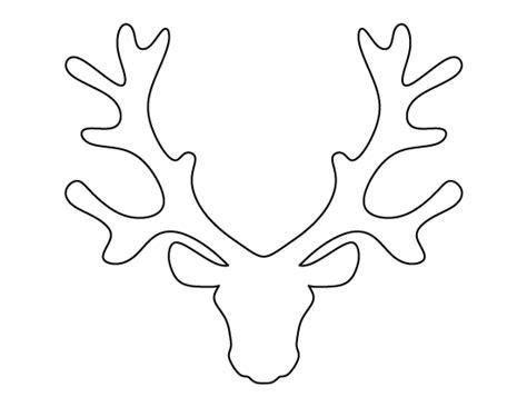reindeer template cut out printable reindeer template