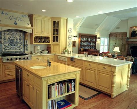 wooden kitchen designs pictures blue and yellow kitchen houzz 1635