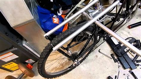 diy xtracycle from parts bike winter project p4 cargo rack youtube