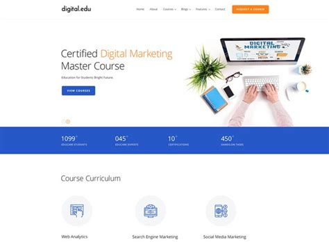 digital marketing websites free bootstrap responsive website templates ease template