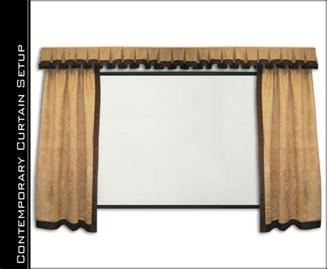 contemporary home theater curtains