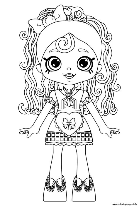 shopkins doll spaghetti sue lil shoppie   happy places coloring pages printable