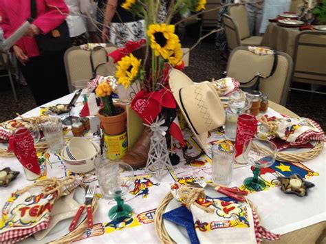 bbq table decorations table and party decoration ideas deep in the heart of texas bbq home tablescapes