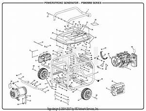 Homelite Ps905000 Powerstroke 5 000 Watt Generator Parts Diagram For General Assembly A