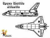Coloring Space Shuttle Atlantis Pages Yescoloring Nasa Spaceship Sheet Spectacular Boys sketch template