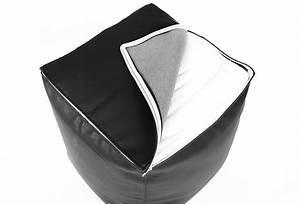 Housse De Pouf Carré : pouf cube cuir noir 75 pouf carr livraison express ~ Dailycaller-alerts.com Idées de Décoration