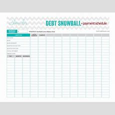 Debt Snowball Payment Schedule Beautiful And Perfect Worksheet That Keeps You Focused On