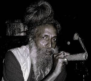 Hindu Baba smoking the chillum | Flickr - Photo Sharing!