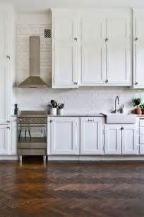 White Subway Tile Kitchen Floors