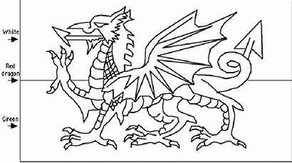 Welsh Flag Template Coloring Mexican Colour Clipart