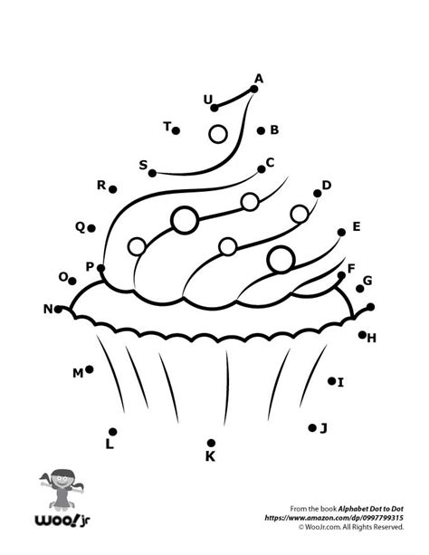 cupcake dot to dot woo jr activities 552 | dot to dots