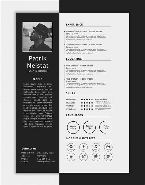 10 Fresh Free Resume / CV Design Templates 2018 in Word, PSD, Ai & INDD Formats