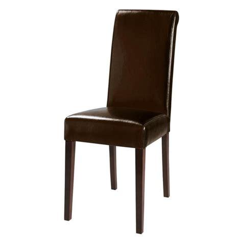 stoel en stoel bruine polyurethaan en kastanjehouten stoel boston