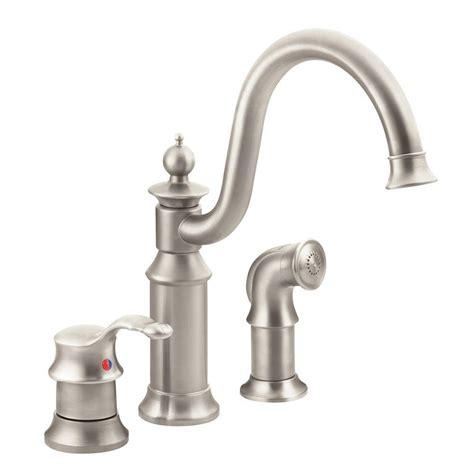 Moen High Arc Kitchen Faucet by Moen Waterhill High Arc Single Handle Standard Kitchen