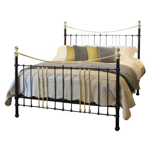 cast iron headboard wide cast iron brass bed in black c 1895 msk42