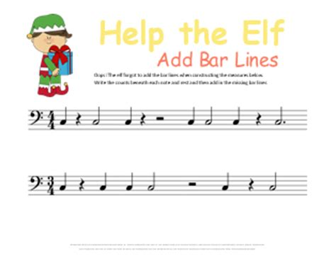 There are different types of bar lines, each with a different function. Christmas Music Theory Worksheets - 20+ Free Printables