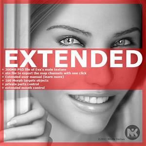 Hair Extended Eva V3 3d Model