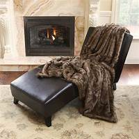 faux fur throw Faux Fur & Mongolian Lamb Throw Blanket | eBay