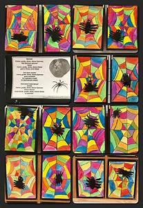 Malen Mit Wasserfarben : spinnen im netz wachsfarben und wasserfarben kunstunterricht malen und basteln in der ~ Orissabook.com Haus und Dekorationen