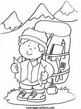 Montagne Coloriage Colorier Mountain Coloring Climber Imprimer Dessin Coloriages Enfants Printable Une Leur Gratuitement Sheets Partager Nature sketch template
