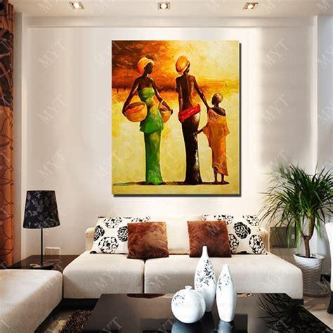 design modern african women oil painting living room