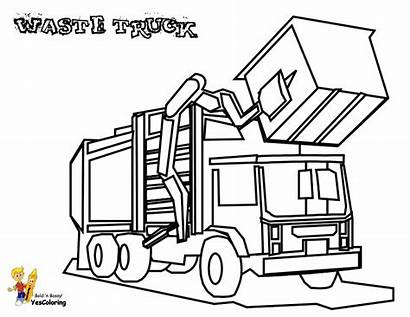 Coloring Truck Garbage Construction Pages Yescoloring Grimy