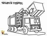Coloring Truck Garbage Pages Construction Waste Trucks Yescoloring Grimy sketch template