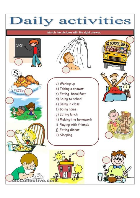 daily activities enseignement pedagogie ecole