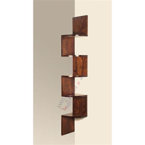 Small Wooden Corner Wall Shelf