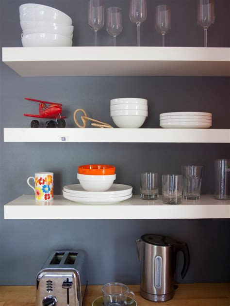 open shelf kitchen cabinet ideas tips for open shelving in the kitchen hgtv