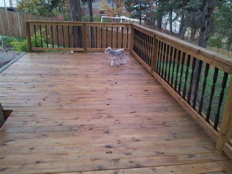 deck stained  cabots honey teak diy projects
