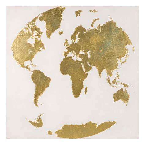 toile carte du monde toile carte du monde 80x80 goldy maisons du monde
