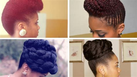 Prom Formal Updo Hairstyles on Natural Hair   YouTube