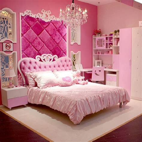 Pink Bedroom Set by European Style Mdf Pink Princess 4pcs Bedroom