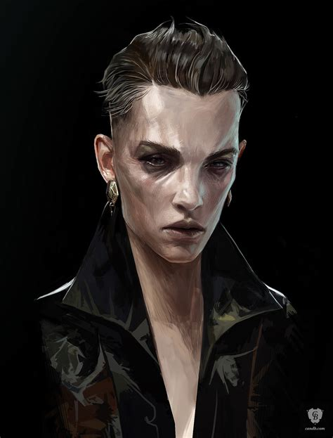 Artwork Delilah Portrait Dishonored 2 Arkane Studios