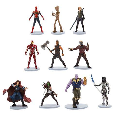set figuritas de lujo vengadores infinity war disney store