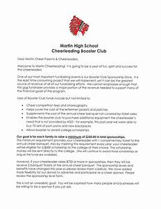 Booster club for Booster club sponsorship letters