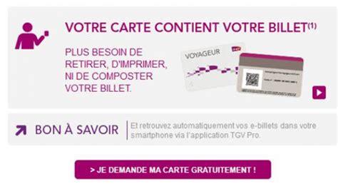 Modifier Billet Sncf Carte Voyageur by Carte Voyageur Sncf