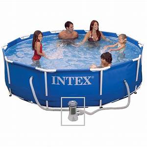 Piscine Hors Sol Metal : piscine hors sol tubulaire m tal frame 305x76cm bleu ~ Dailycaller-alerts.com Idées de Décoration