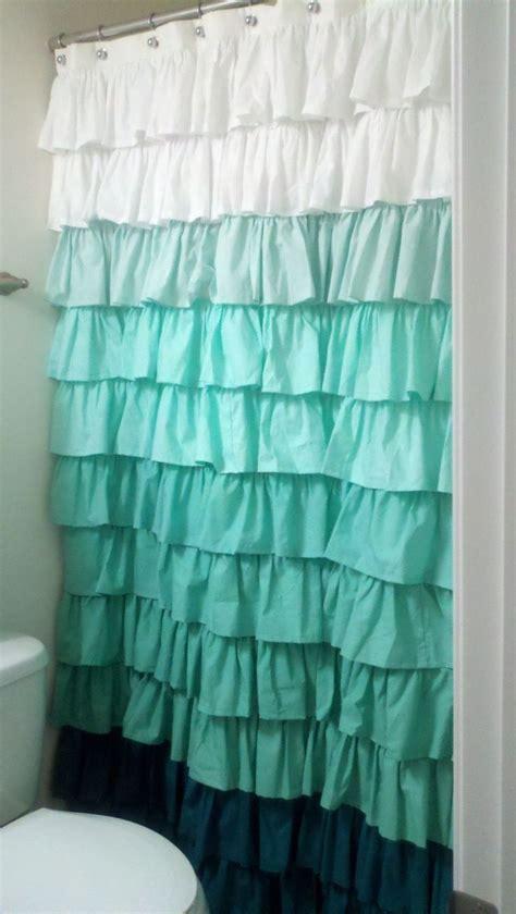 ruffle shower curtain kids bath mermaid bathroom decor