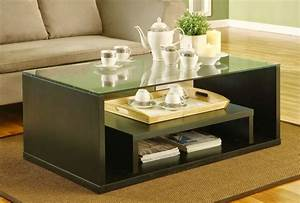 25, Latest, Wooden, Centre, Table, Designs, With, Glass, Top