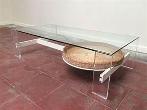 Table Basse En Plexiglas : table basse vintage design en plexiglas verre et bois ~ Teatrodelosmanantiales.com Idées de Décoration