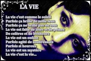 La Vie Poeme gifs belles images texte
