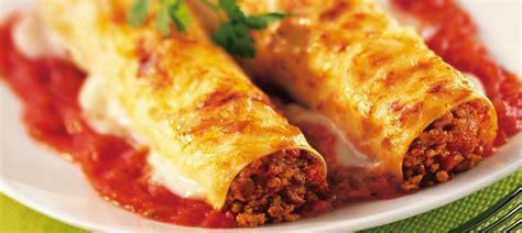 cuisine italienne cannelloni cannelloni à la viande hachée facile