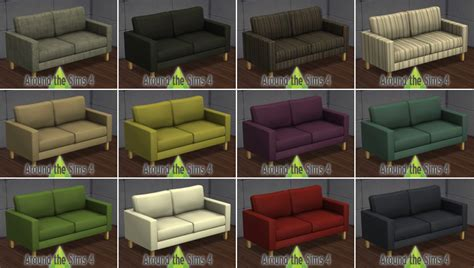 canapé ikea karlstad around the sims 4 custom content objects